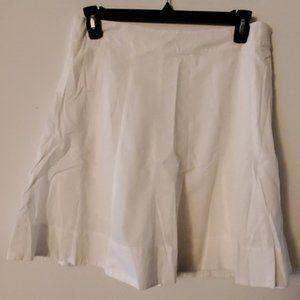 Christopher & Banks White Cotton A-Line Skirt 12P
